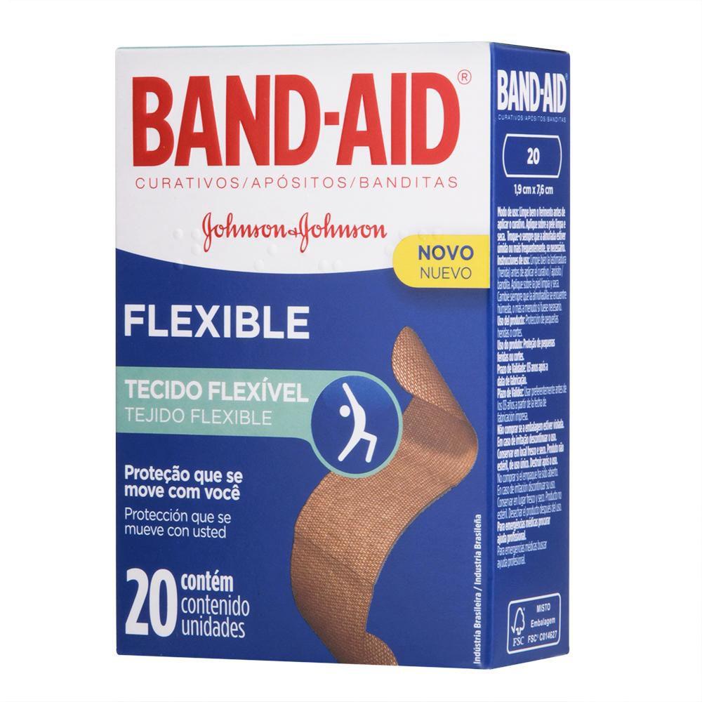 Curativos Band-Aid Flexible 20 Unidades
