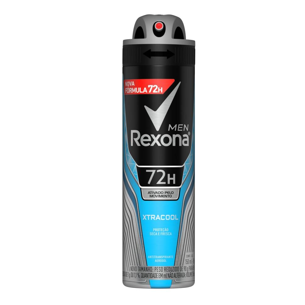 Desodorante Rexona Men Antitranspirante Aerossol Xtra Cool 150ml