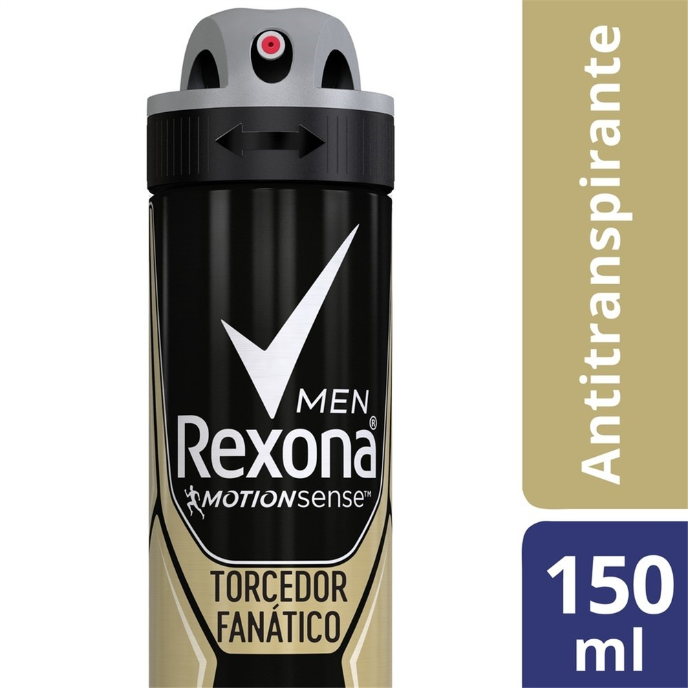 Desodorante Antitranspirante Aerosol Rexona Torcedor Fanático 150ml