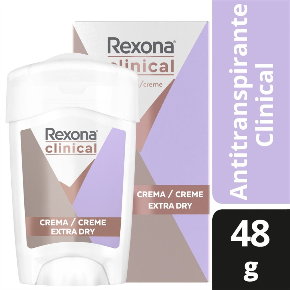 Desodorante Antitranspirante Rexona Feminino Clinical Extra Dry 48g