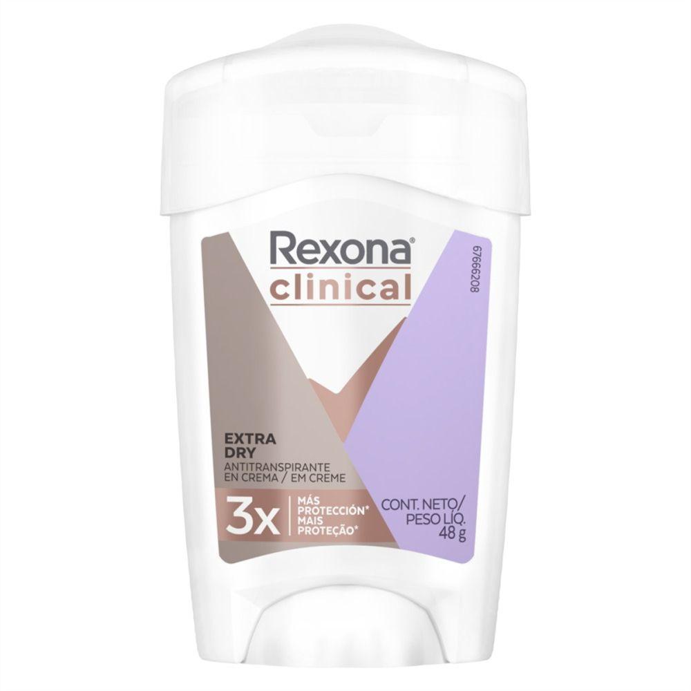 Desodorante Rexona Clinical Women Antitranspirante Extra Dry Creme 48g