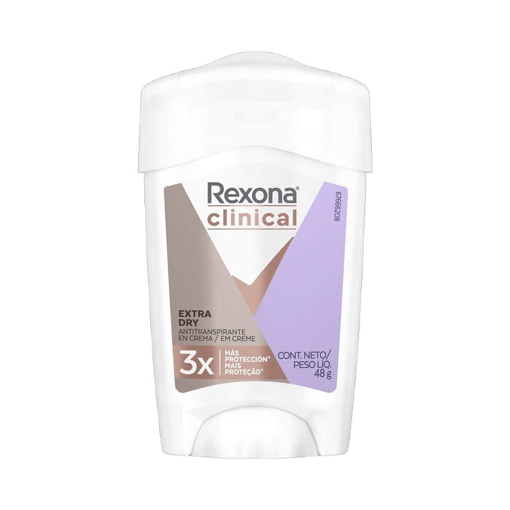 Desodorante Rexona Clinical Women Antitranspirante Extra Dry Creme 48g