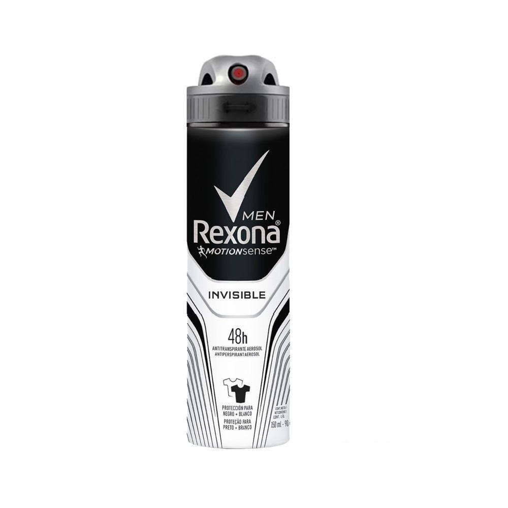 Desodorante Rexona Men Antitranspirante Aerossol Invisible 150ml