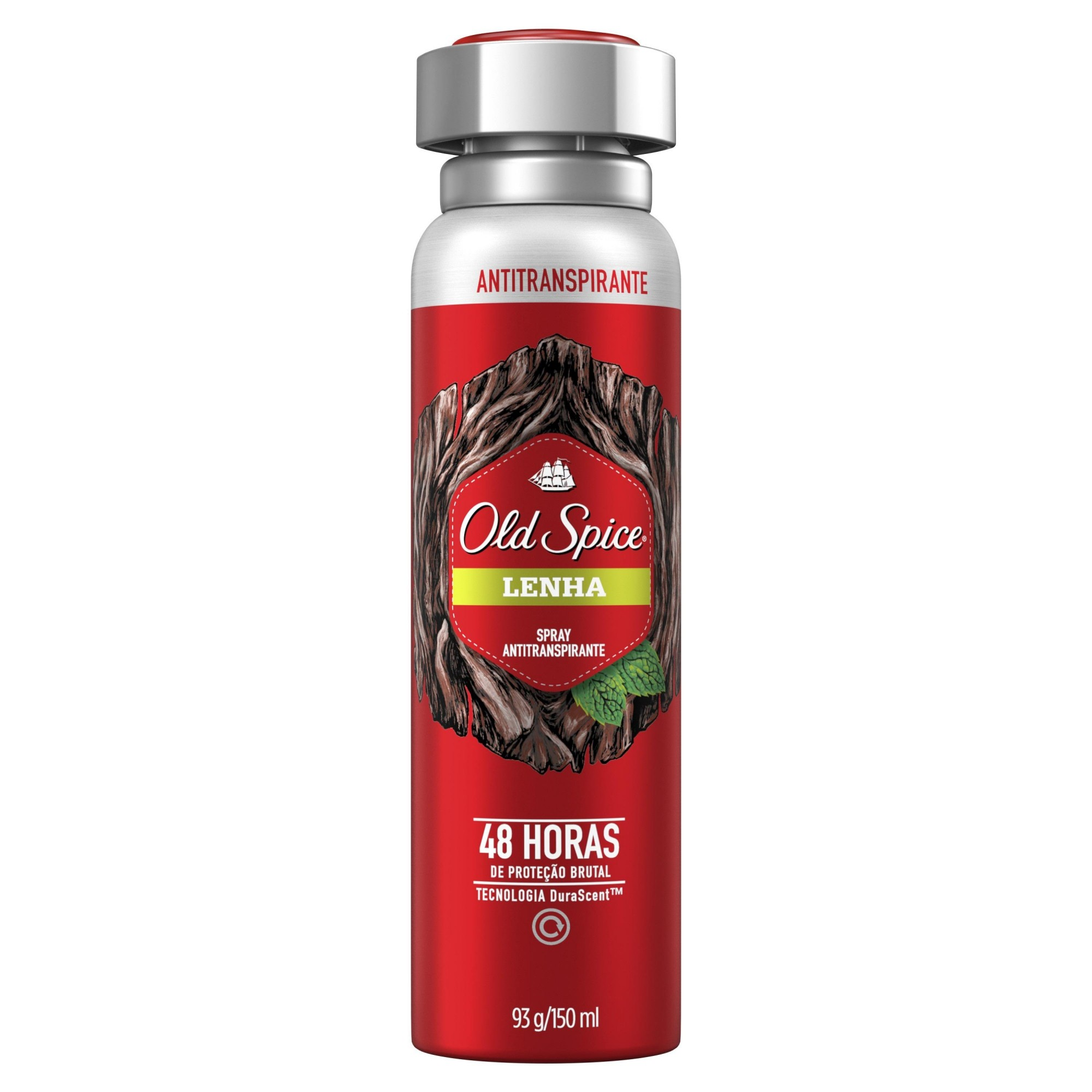 Desodorante Spray Antitranspirante Old Spice Lenha 150ml