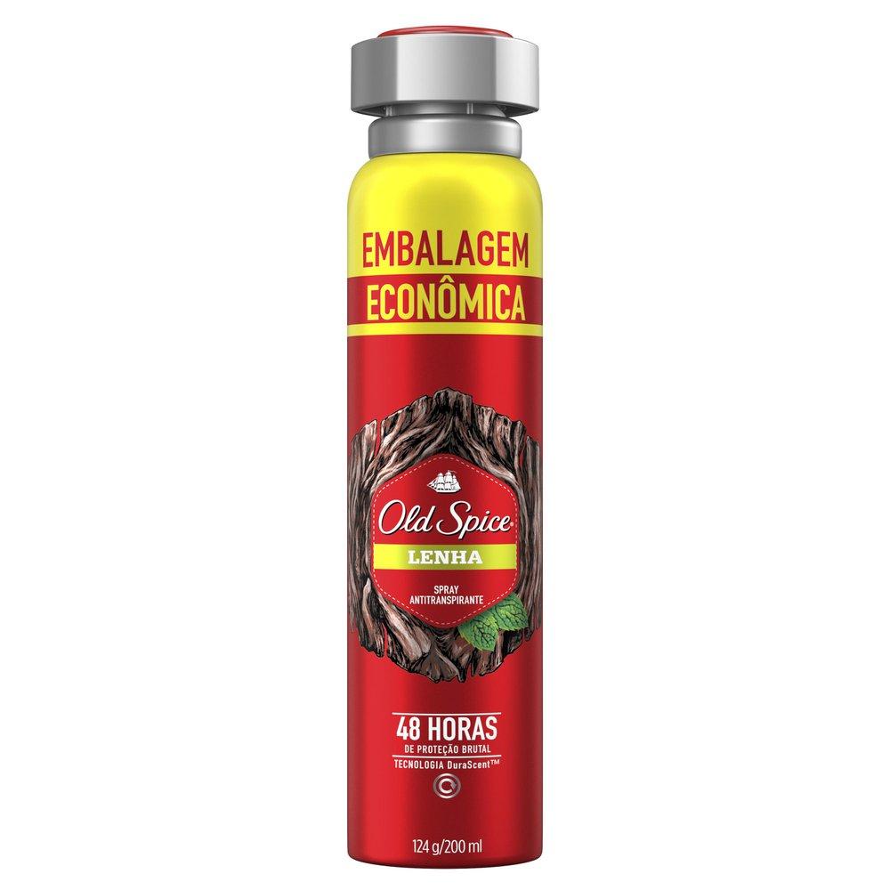 Desodorante Spray Antitranspirante Old Spice Lenha 200mL