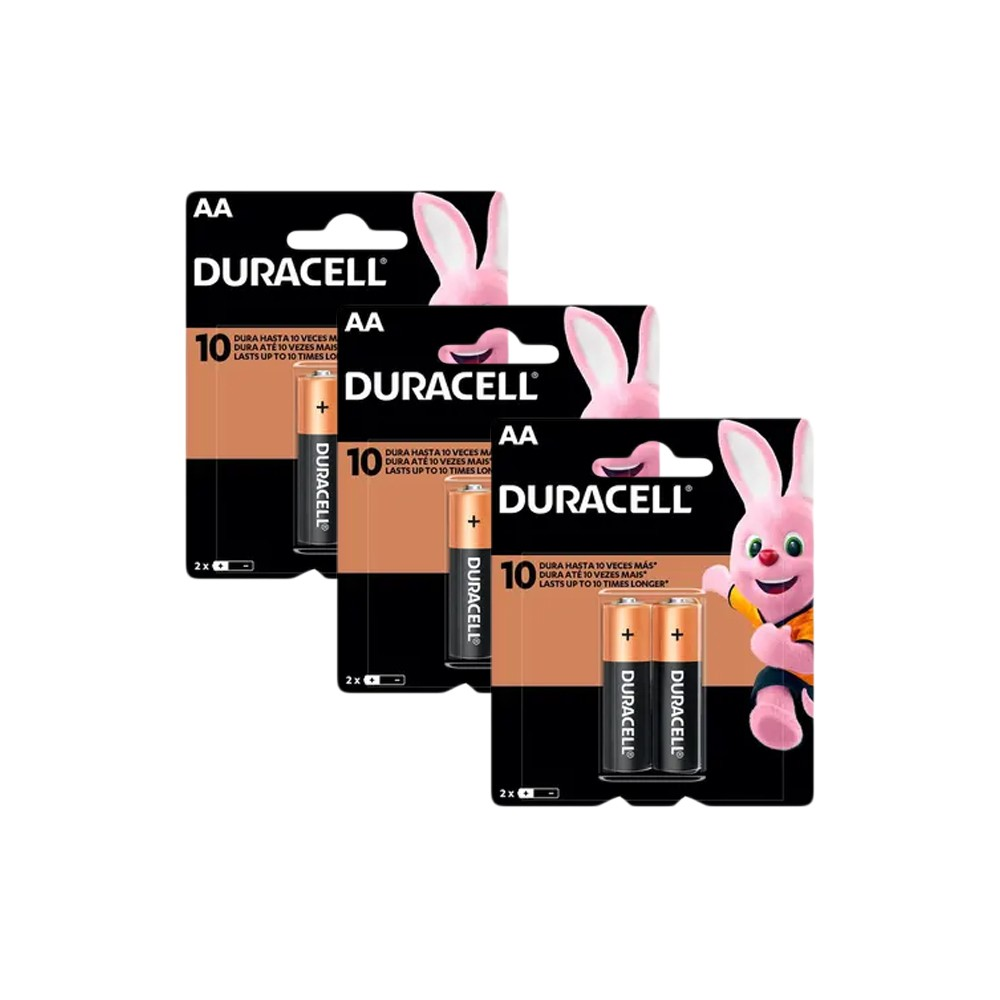 Duracell Duralock Pilha Alcalina AA c/ 6 unidades