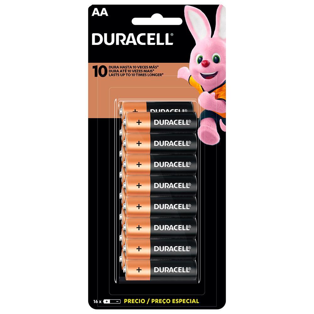 Duracell Duralock Pilha Alcalina AA com 16 unidades