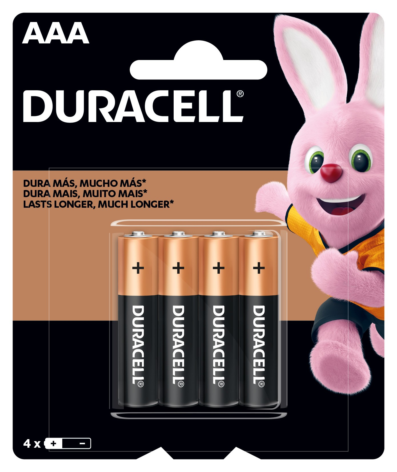 Duracell Duralock Pilha Alcalina AAA c/ 4 unidades Premium