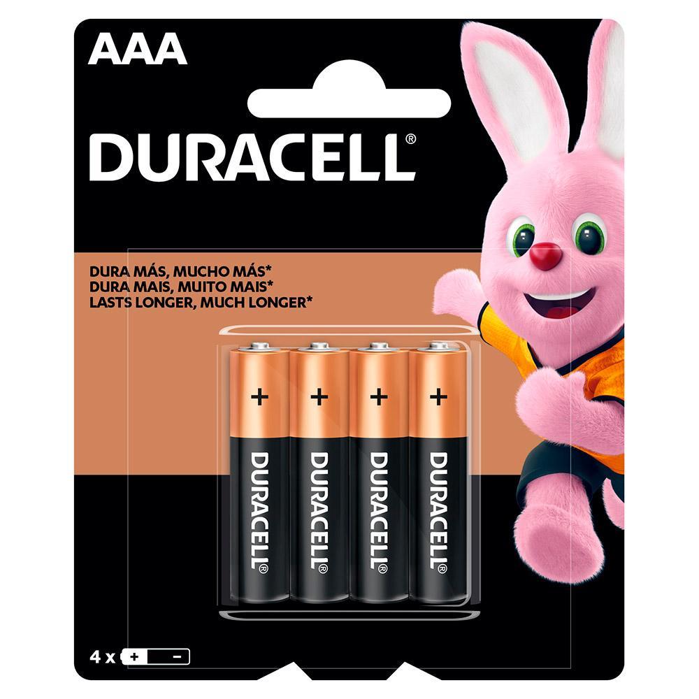 Pilha Duracell Duralock Alcalina AAA 4 unidades