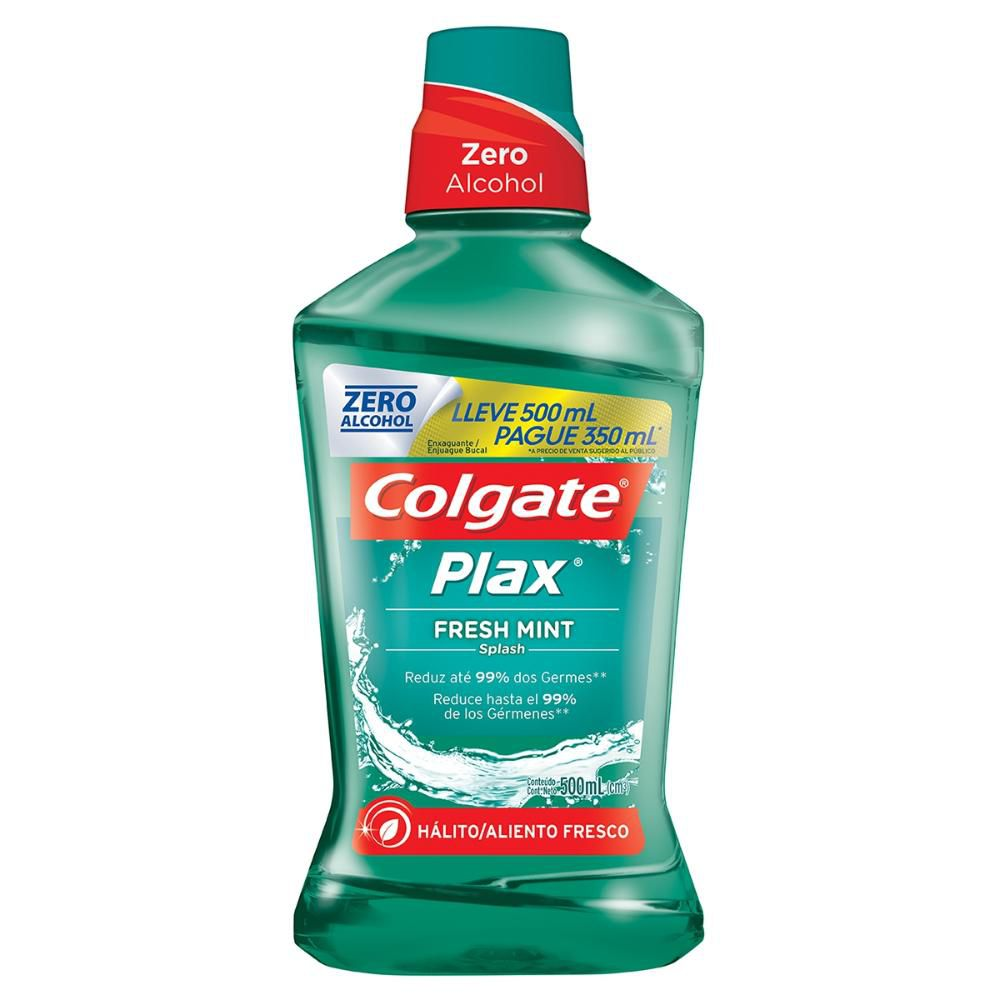 Enxaguante Bucal Colgate Plax Fresh Mint 500ml Leve 500ml Pague 350ml