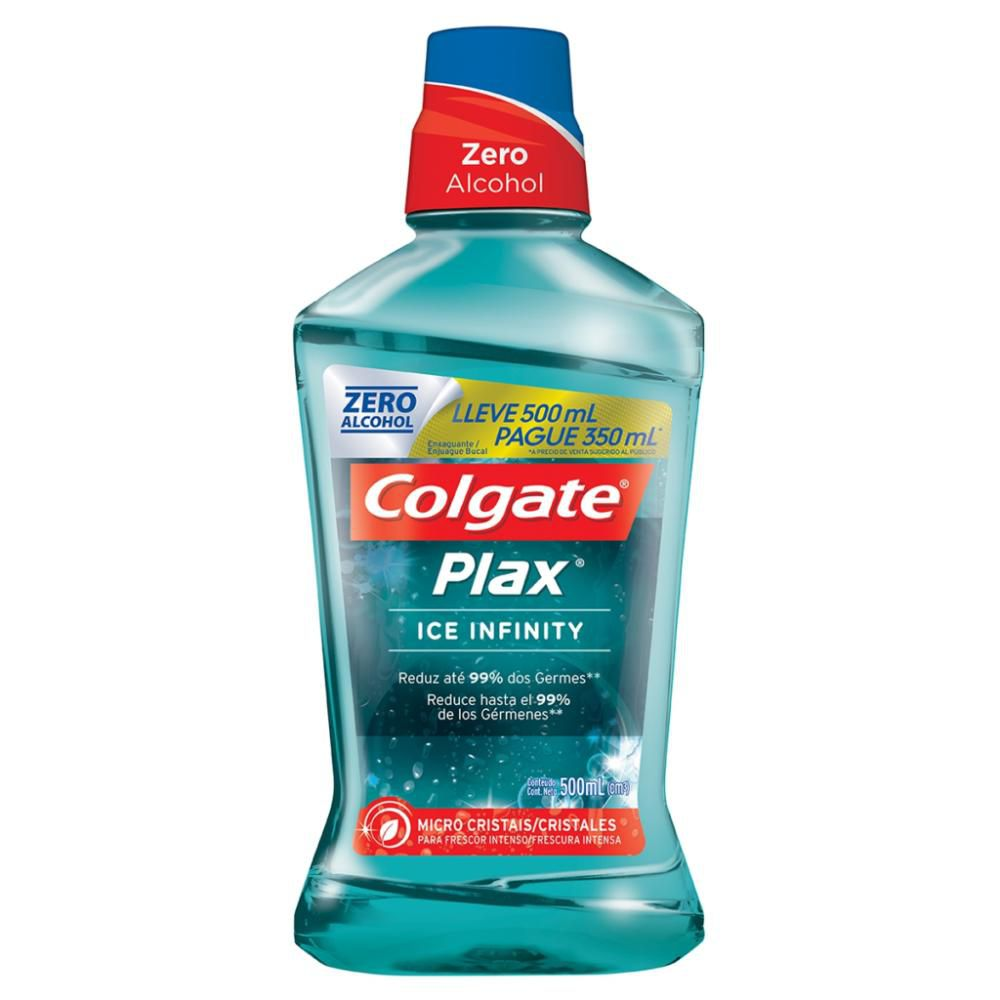Enxaguante Bucal Colgate Plax Ice Infinity 500ml Leve 500ml Pague 350ml