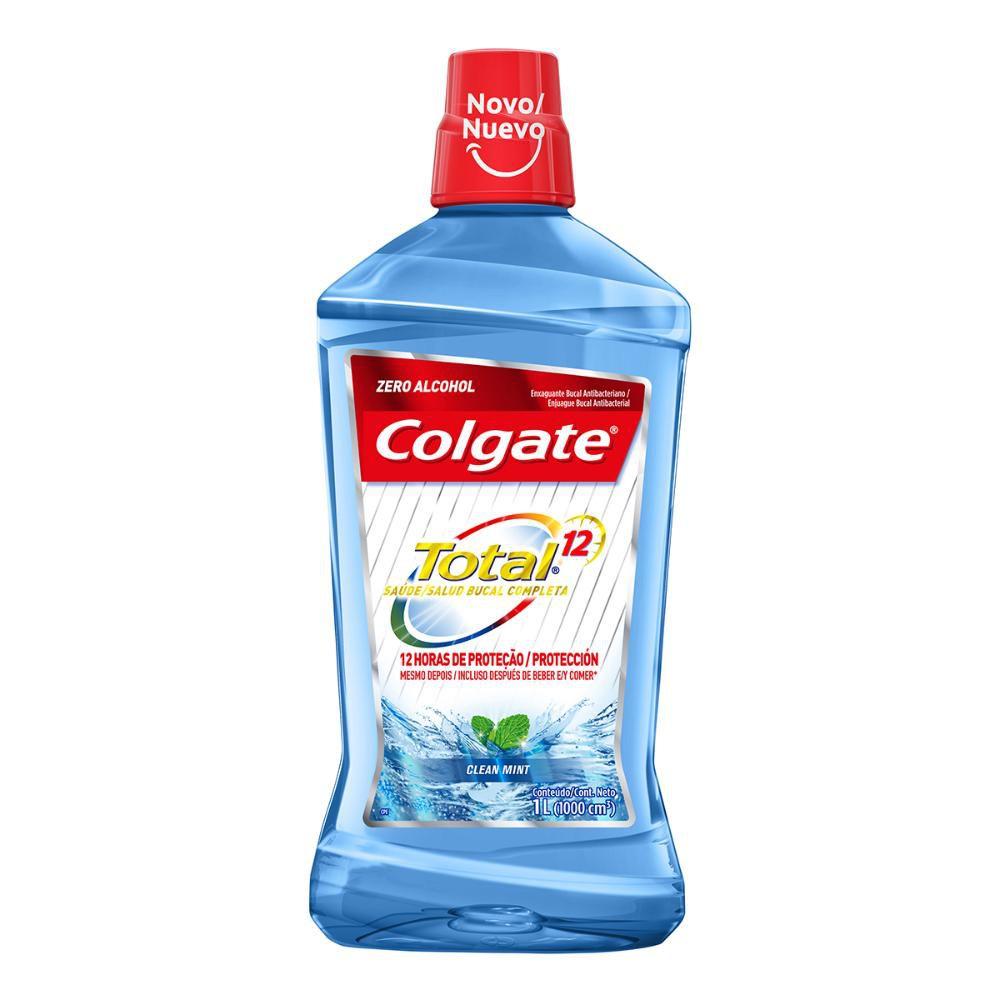 Enxaguante Bucal Colgate Total 12 Clean Mint 1L
