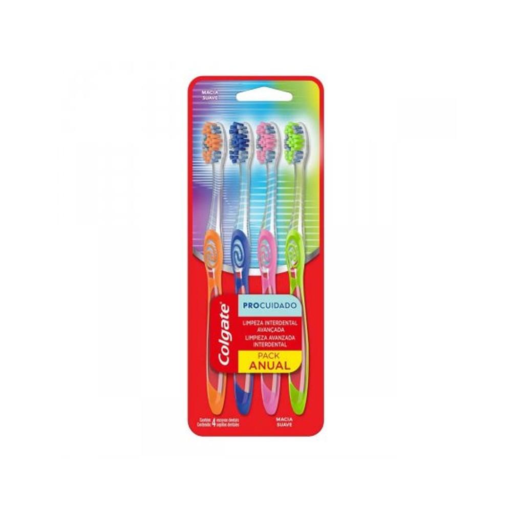 Escova Dental Colgate Pro Cuidado 4 unidades