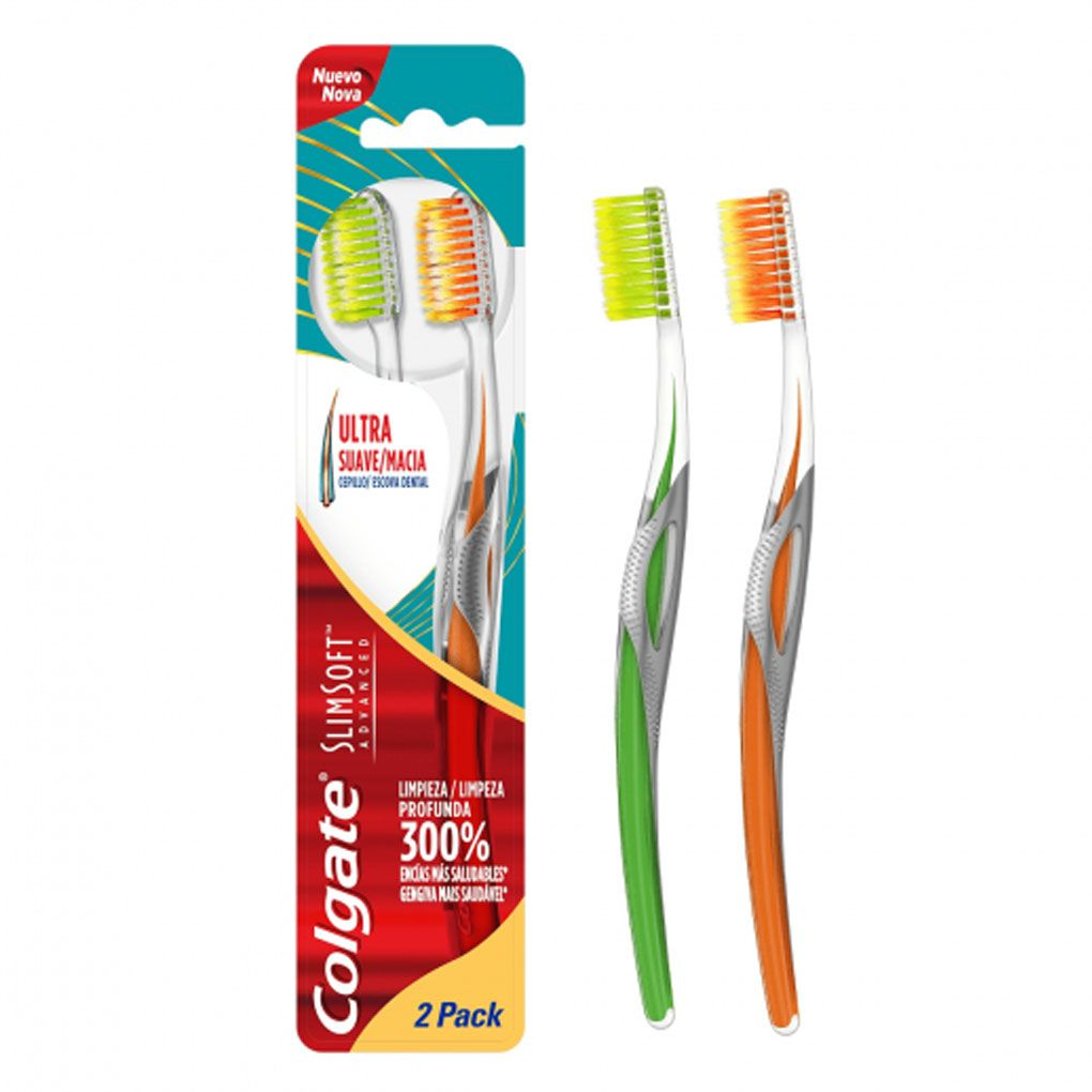 Kit Escova Dental Colgate Slim Soft Advanced + Creme Dental Total 12 90g