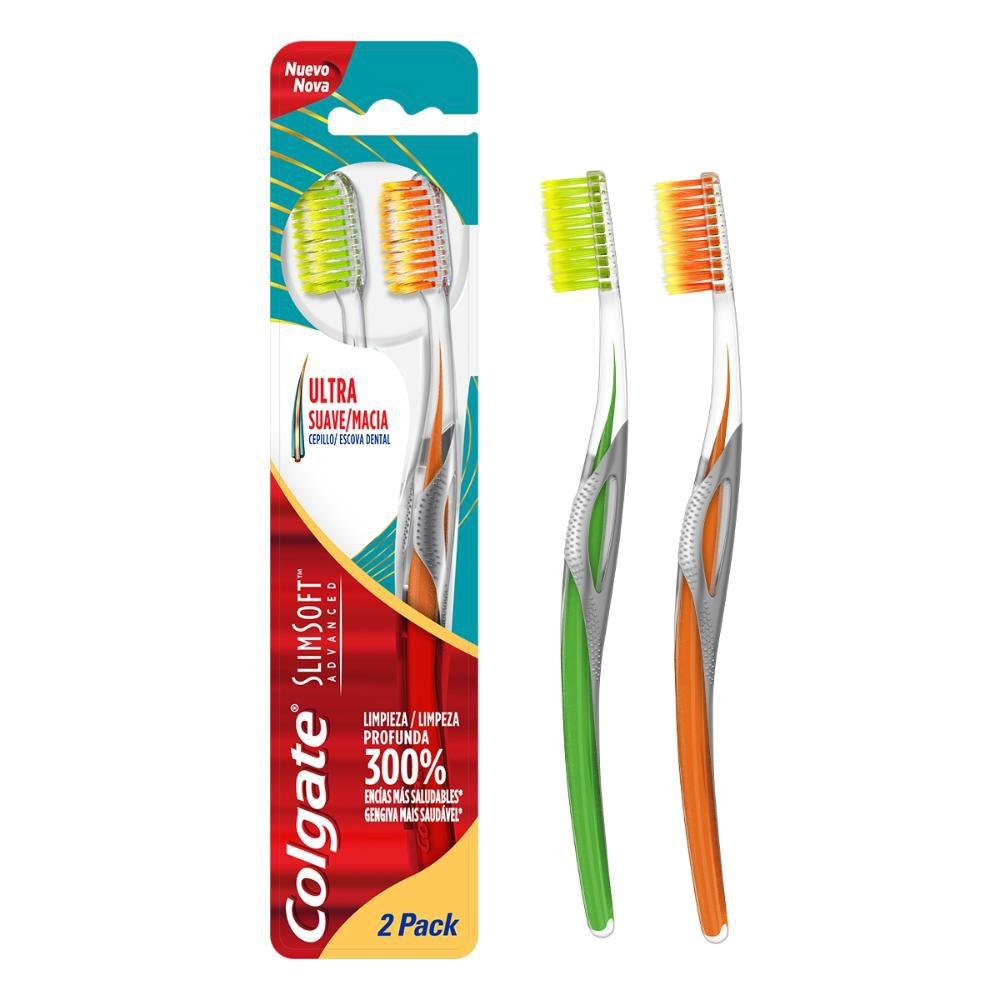 Escova Dental Colgate Slim Soft Advanced 2 Unidades