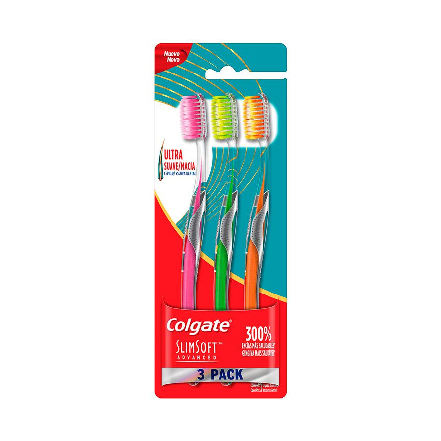 Escova Dental Colgate Slim Soft Advanced 3 Unidades