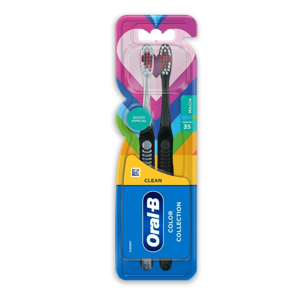 Escova Dental Oral-B Color Collection Macia 2 Unidades