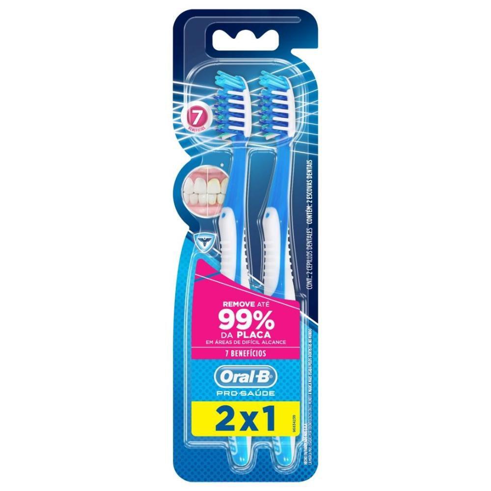 Escova Dental Oral-B Pro Saude 7 Beneficios 35 Leve 2 Pague 1