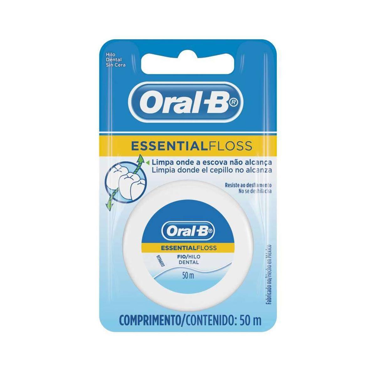 Fio Dental Oral-B Essential Floss Encerado 25m