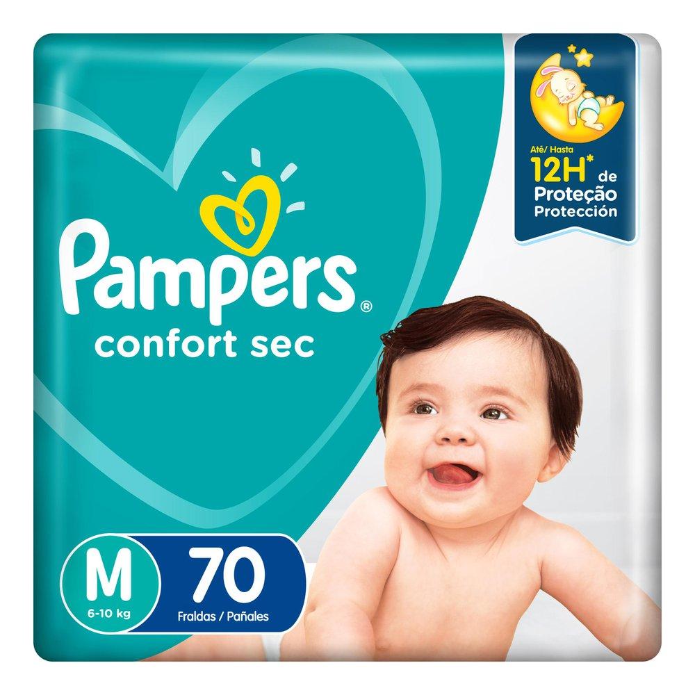 Fralda Pampers Confort Sec Pack  Tamanho M 70 unidades