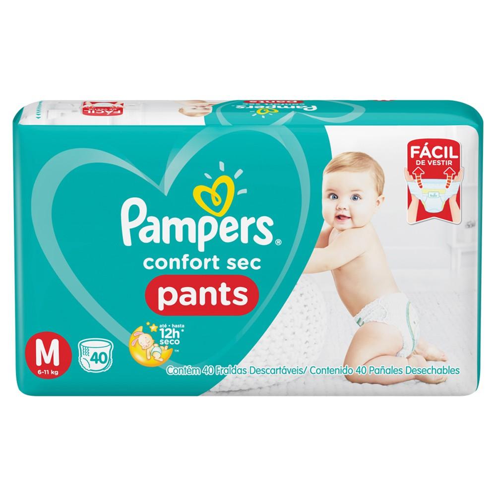 Fralda Pampers Confort Sec Pants Tamanho M 40 Tiras
