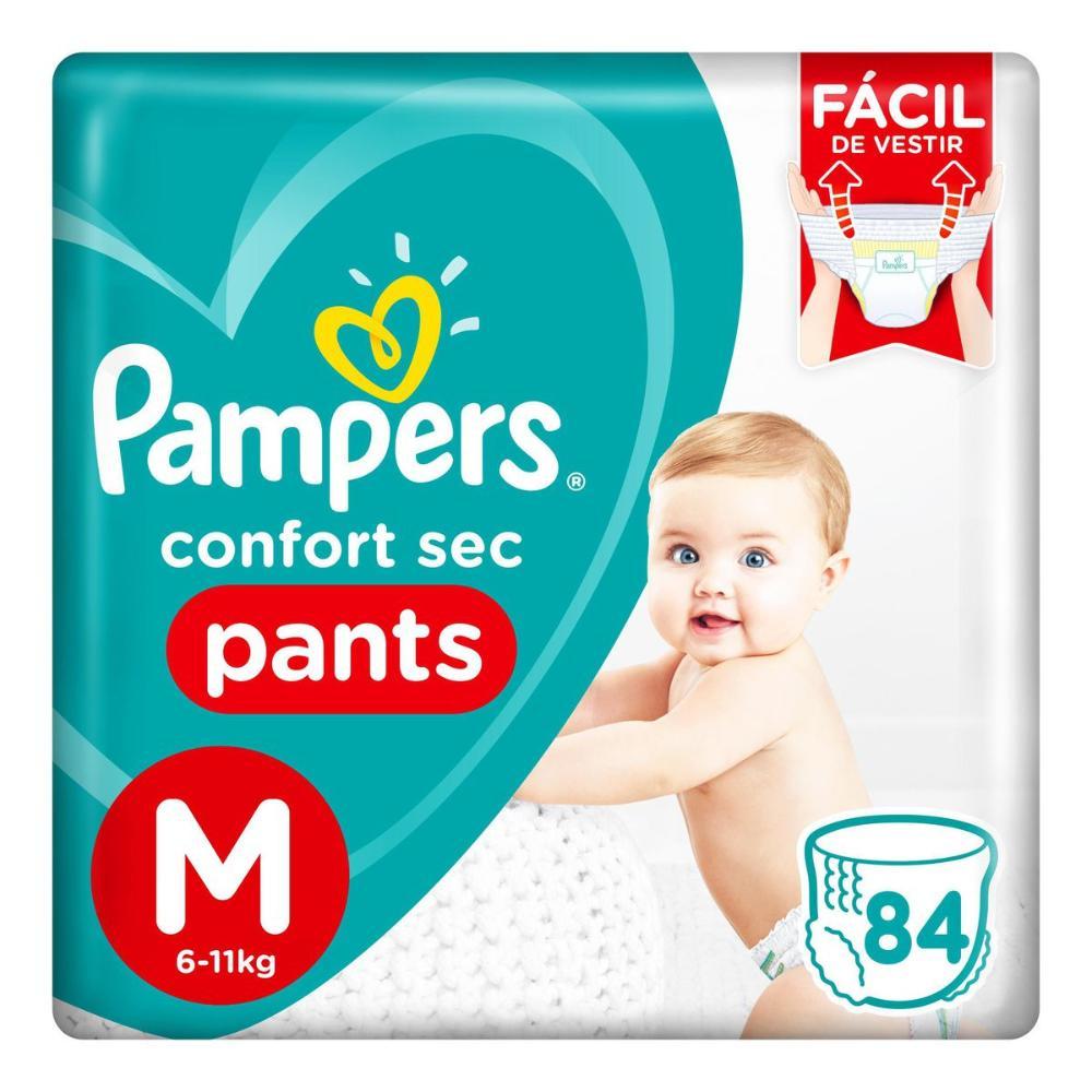 Fralda Pampers Confort Sec Pants Top Tamanho M 84 Unidades