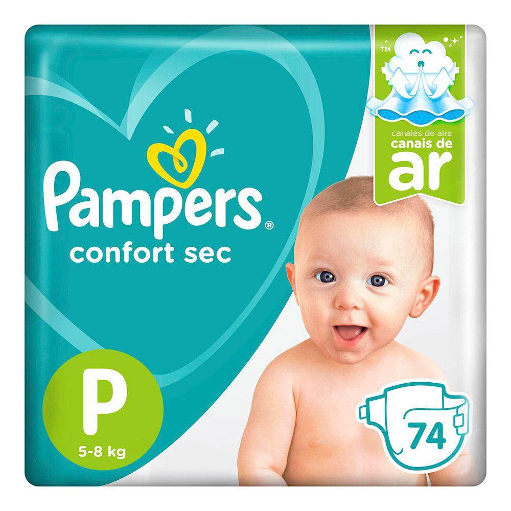 Fralda Pampers Confort Sec Super Tamanho P 74 Tiras