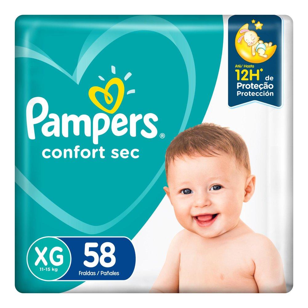 Fralda Pampers Confort Sec Super Tamanho XG 58 Unidades