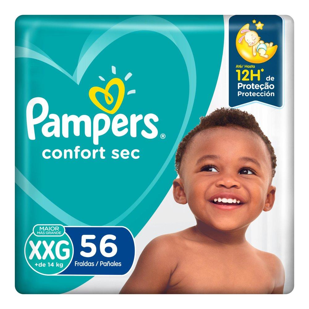 Fralda Pampers Confort Sec Super Tamanho XXG 56 Tiras