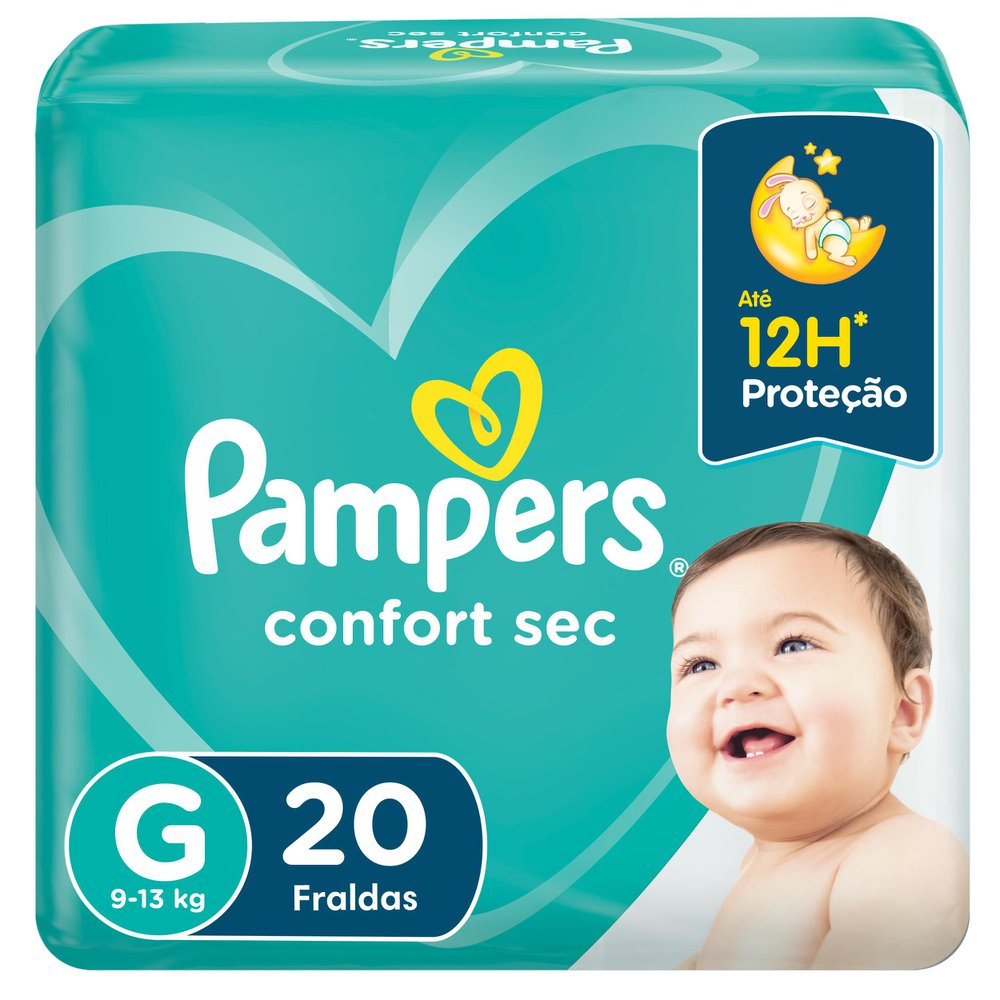 Fralda Pampers Confort Sec Tamanho G 20 Unidades