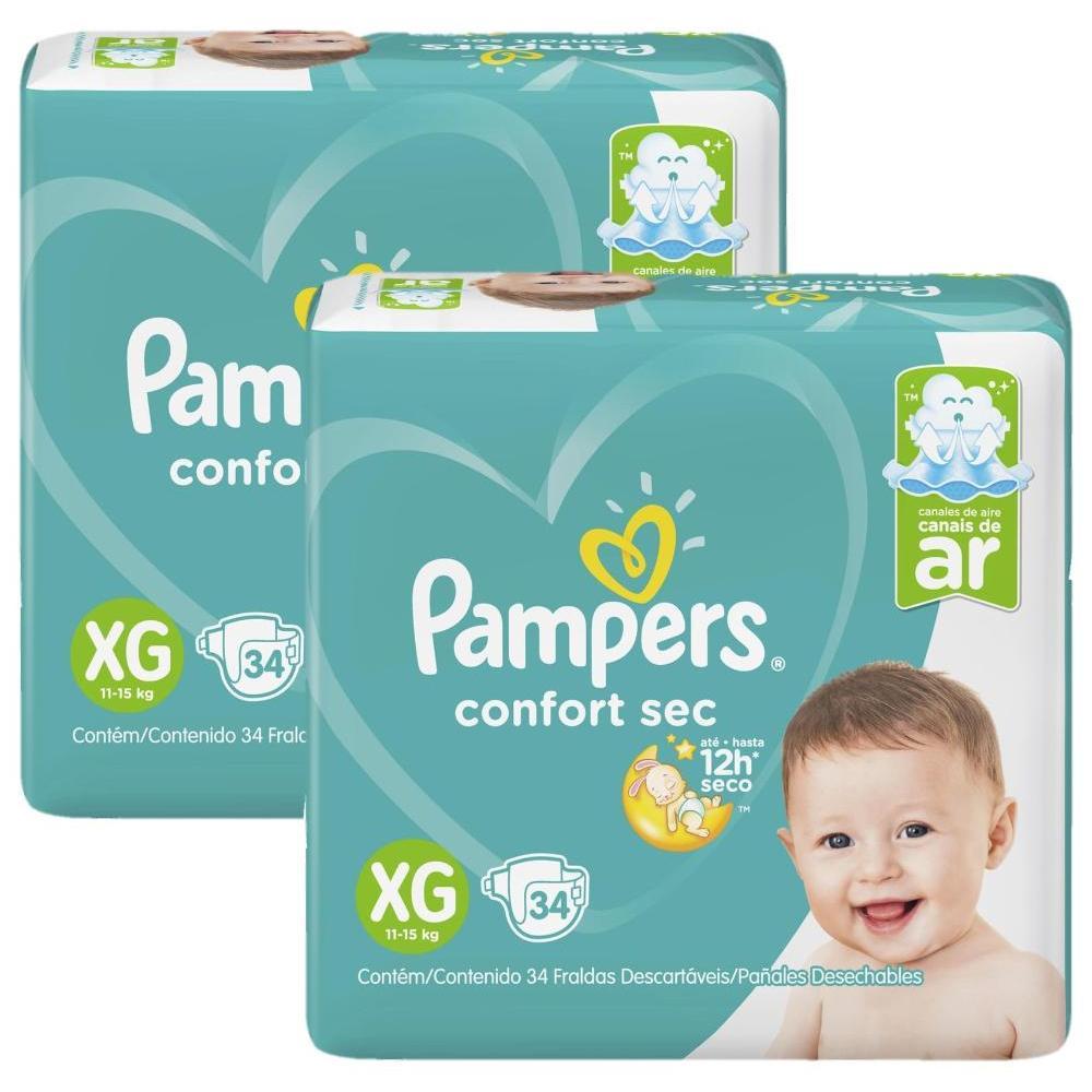 Fralda Pampers Confort Sec Tamanho XG com 68 Unidades