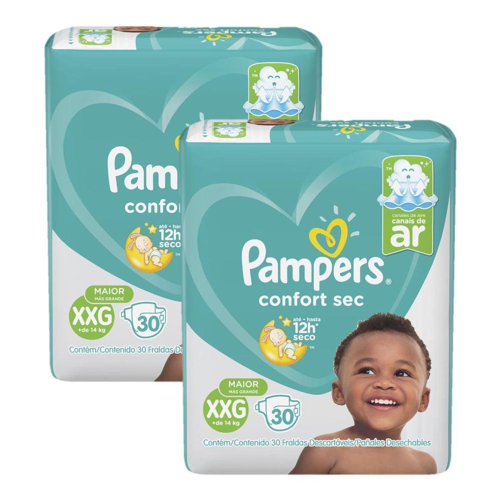 Fralda Pampers Confort Sec Tamanho XXG com 60 Unidades