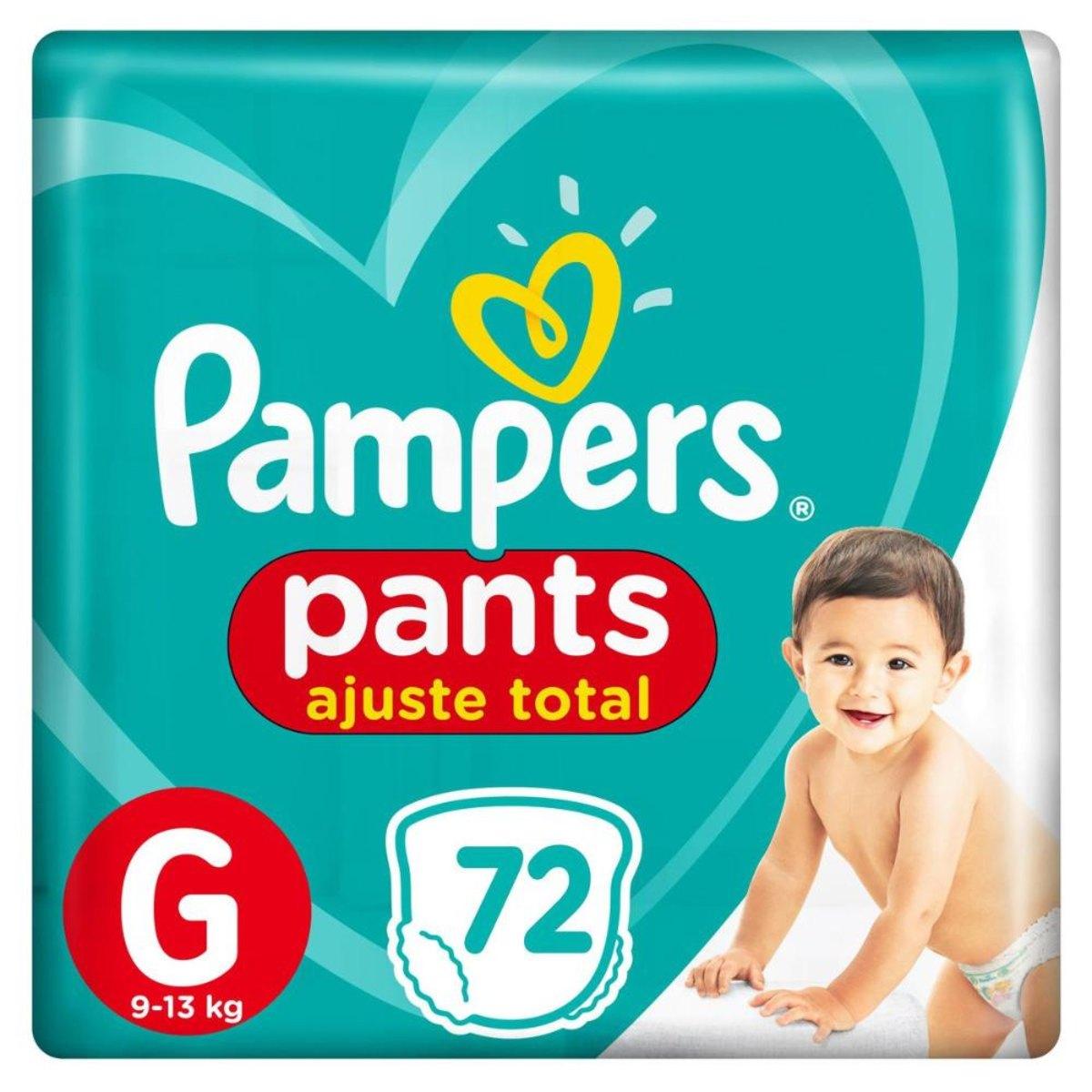 Fralda Pampers Pants Ajuste Total Top Tamanho G 72 Unidades