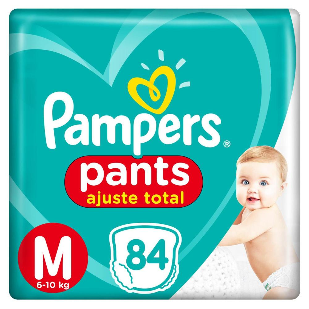 Fralda Pampers Pants Ajuste Total Top Tamanho M 84 Unidades
