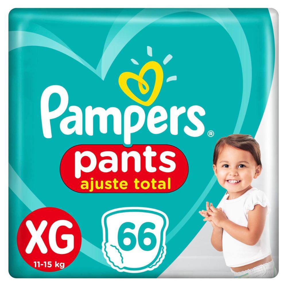 Fralda Pampers Pants Ajuste Total Top Tamanho XG 66 Unidades