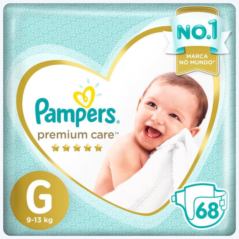 Fralda Pampers Premium Care Nova Jumbo Tamanho G 68 Unidades