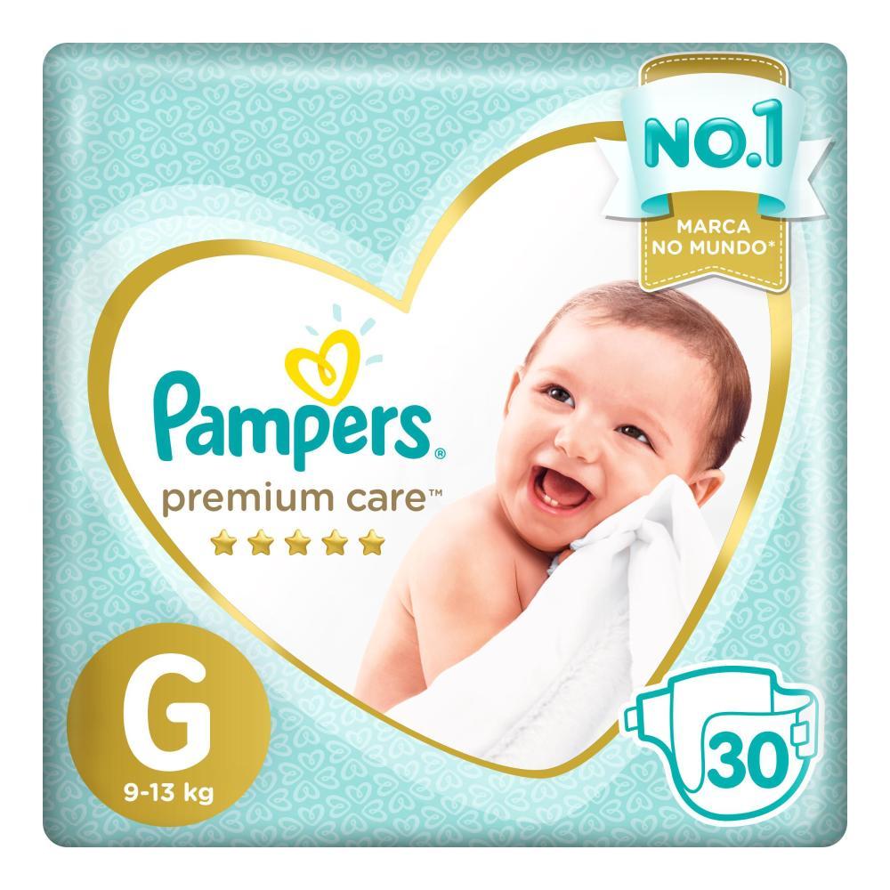 Fralda Pampers Premium Care Nova Mega Tamanho G 30 Unidades