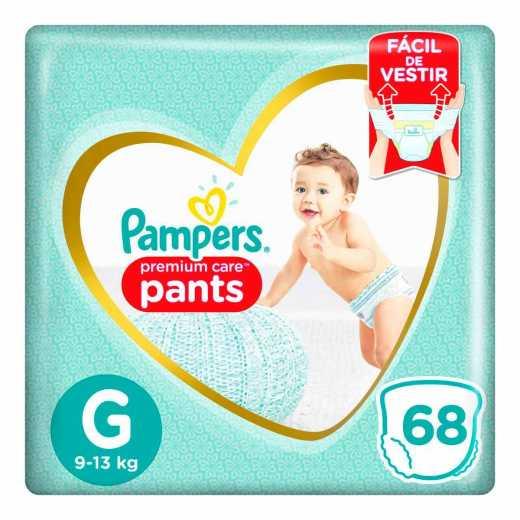 Fralda Pampers Premium Care Pants Top Tamanho G 68 unidades