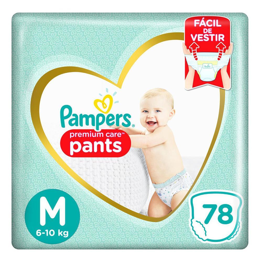 Fralda Pampers Premium Care Pants Top Tamanho M 78 unidades