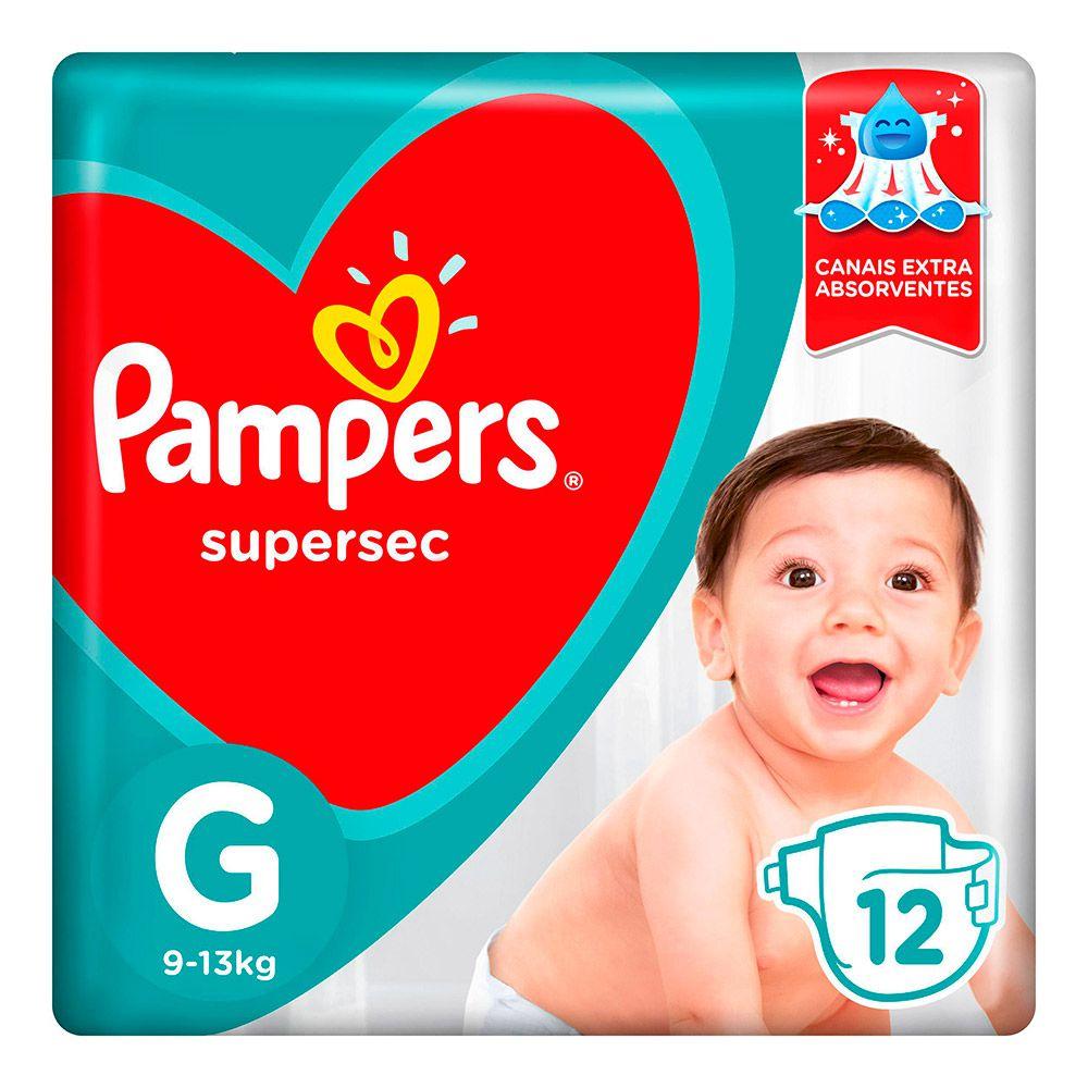 Fralda Pampers Supersec Tamanho G 12 Tiras