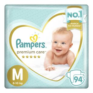 Fraldas Pampers Premium Care Top M 94 Unidades