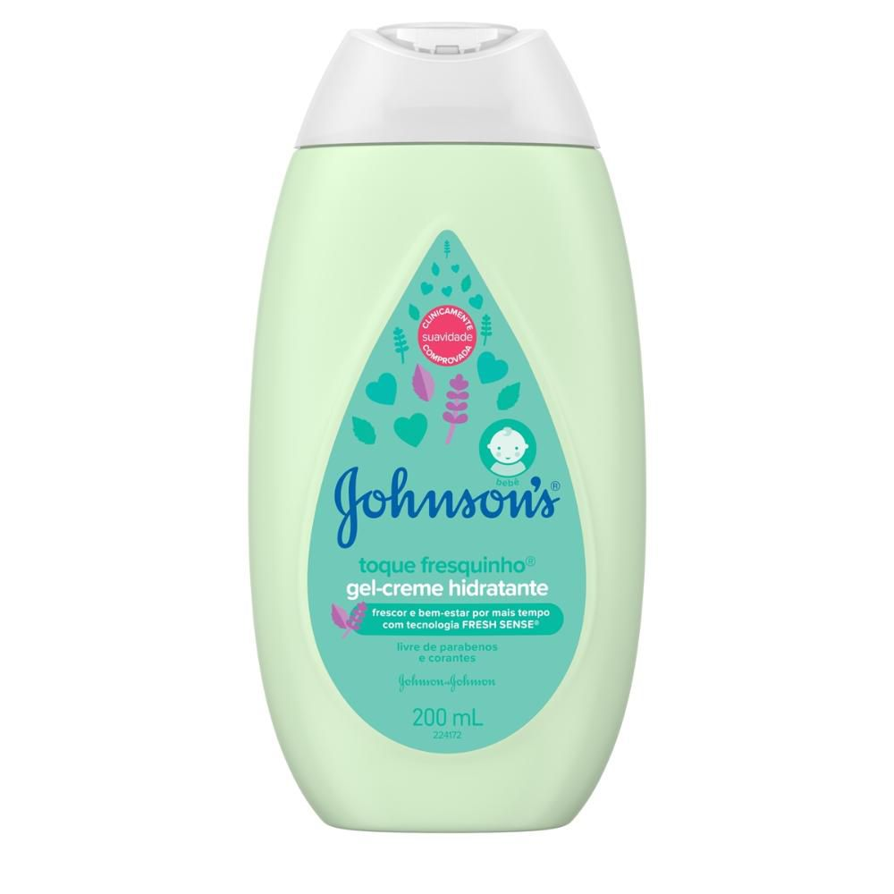 Gel-Creme Hidratante Johnson's Toque Fresquinho 200mL