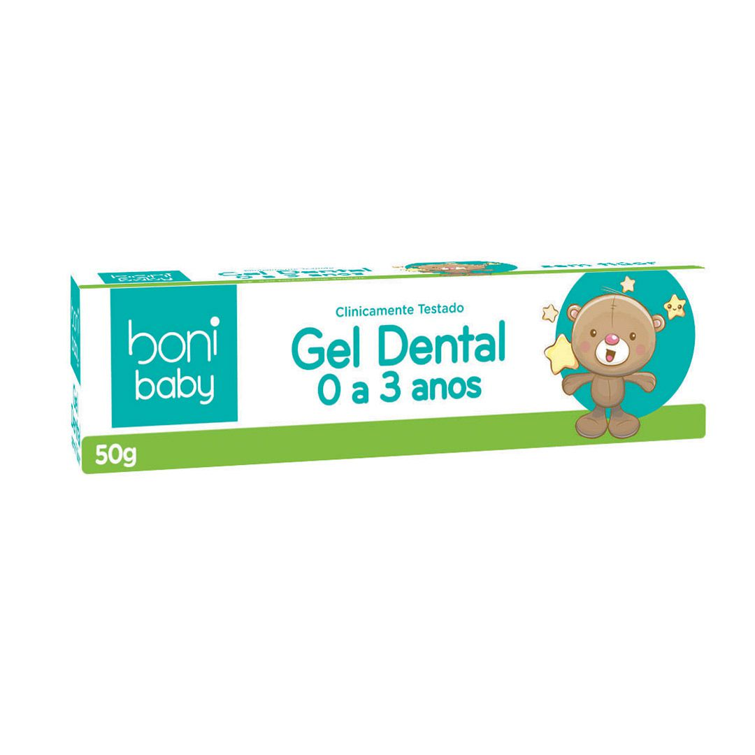 Gel Dental Boni Baby Personagens Sem Flúor 50g