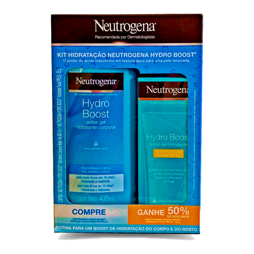 Hidratante Corporal Neutrogena Hydro Boost 400ml + Hidratante Facial 55g