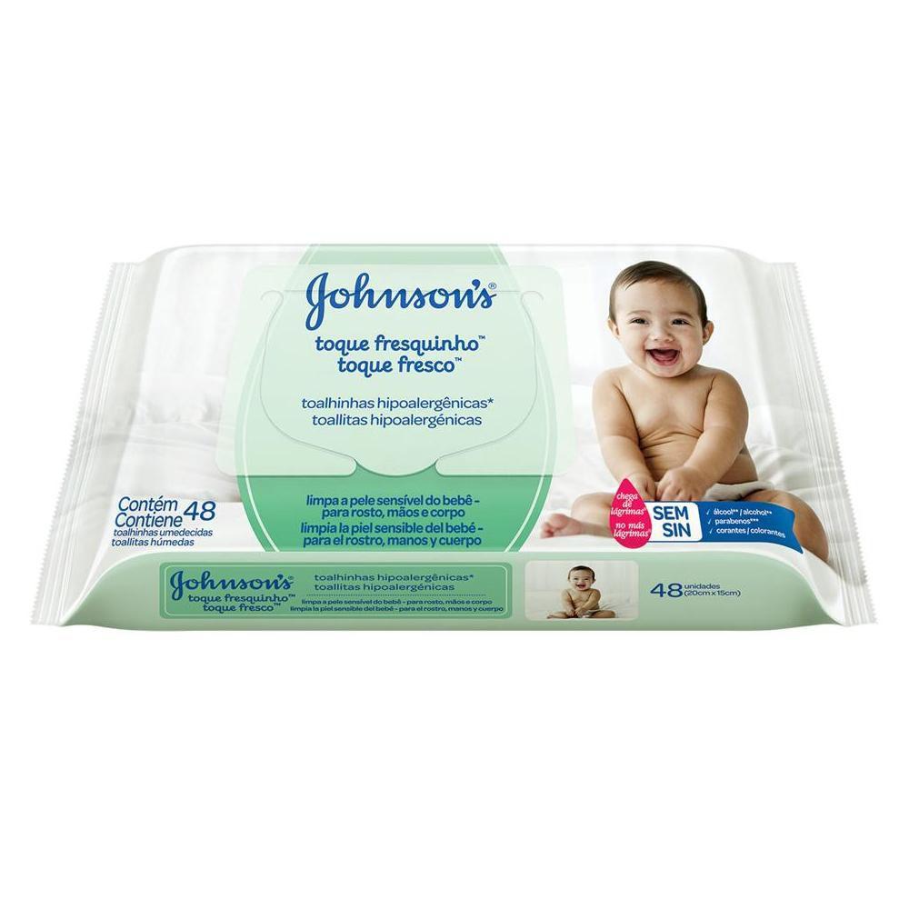 Johnson's Baby Toalhinhas Toque Fresquinho c/ 48