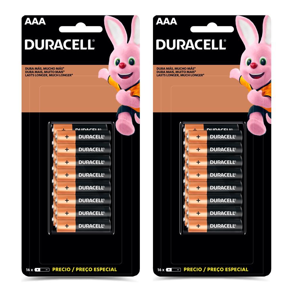 Kit32 Pilhas Duracell Duralock Alcalina AAA