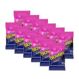 Kit 12 Pacotes Preservativo Blowtex Orgazmax com 03 Unidades cada