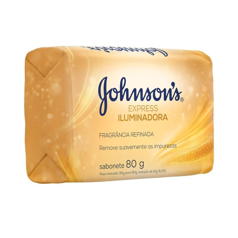 Kit 20 Sabonetes Barra Johnson's Express Iluminadora 80g