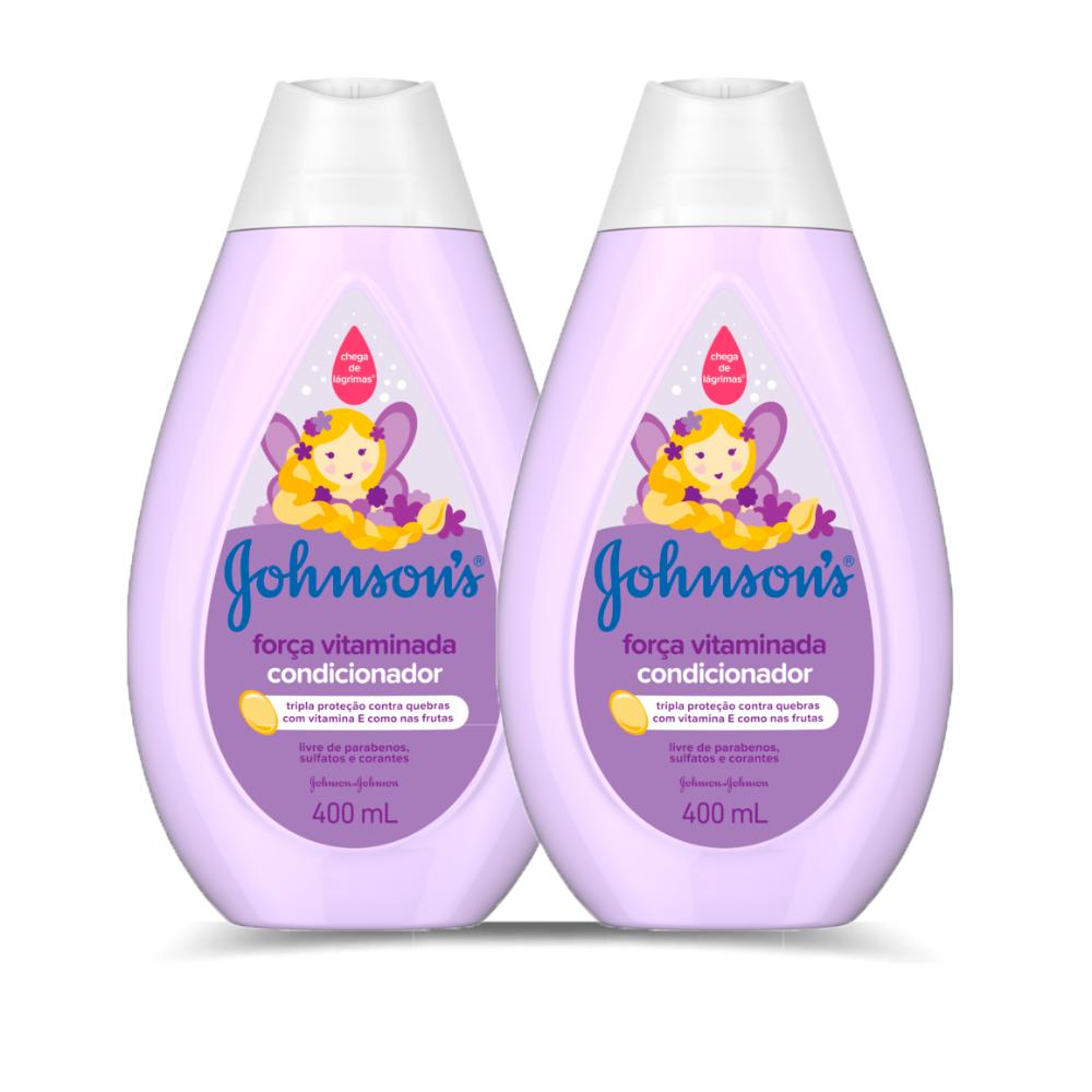 Kit 2 Condicionadores Johnson's Força Vitaminada 400ml