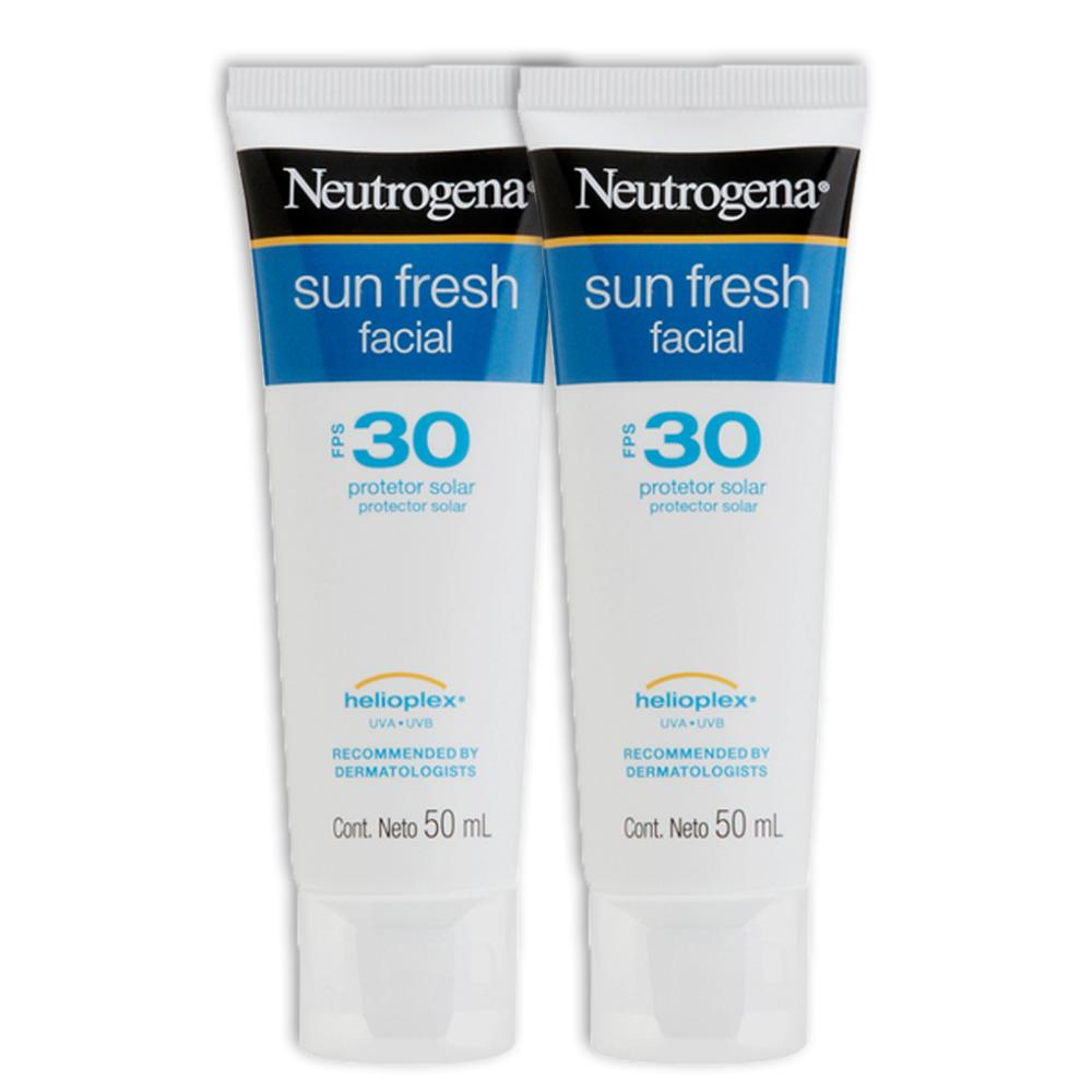 Kit 2 Protetor Solar Facial Neutrogena Sun Fresh FPS 30 50g